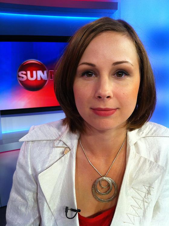 Jessica Murphy, the Sunmedia reporter in the Ottawa studio on July 15, 2011.