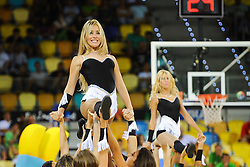 Cheerleaders perform during basketball match between National Teams of Slovenia and Mexico in Round 2 of Group D of FIBA Basketball World Cup Spain 2014, on August 31, 2014 in Gran Canaria Arena, Las Palmas, Canary Islands. Photo by Tom Luksys  / Sportida.com <br /> ONLY FOR Slovenia, France
