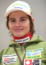 Andreja Mali at the press conference of Slovenian biathlon team before the World Chamionship in Sweden, ÷stersund, in Ljubljana on February 5, 2008. (Photo by Vid Ponikvar / Sportal Images).