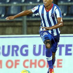 PIETERMARITZBURG, SOUTH AFRICA - MARCH 19: David Booysen of Maritzburg Utd during the Absa Premiership match between Maritzburg United and Bloemfontein Celtic at Harry Gwala Stadium on March 19, 2014 in Pietermaritzburg, South Africa. (Photo by Steve Haag/Gallo Images)
