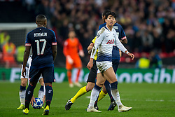 November 6, 2018 - London, Greater London, England - Son Heung-Min of Tottenham Hotspur during the UEFA Champions League Group Stage match between Tottenham Hotspur and PSV Eindhoven at Wembley Stadium, London, England on 6 November 2018. Photo by Salvio Calabrese. (Credit Image: © AFP7 via ZUMA Wire)