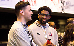 Guests mingle with players from the Bristol Flyers - Mandatory by-line: Robbie Stephenson/JMP - 12/09/2016 - BASKETBALL - Ashton Gate Stadium - Bristol, England - Bristol Flyers Sponsors Event