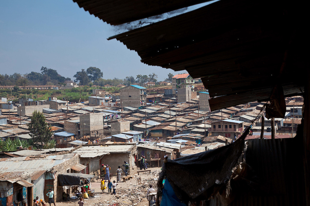 Thousands of homes line the streets of the informal settlements of the Mathare Valley.