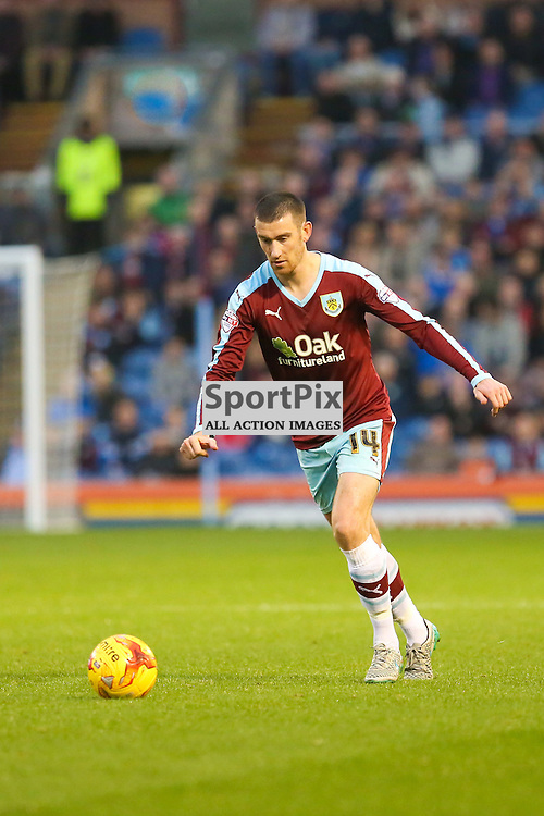 David Jones of Burnley in action during Burnley v Huddersfield Town, Sky Bet Championship, 31 October 2015,  (c) Jackie Meredith/SportPix.org.uk