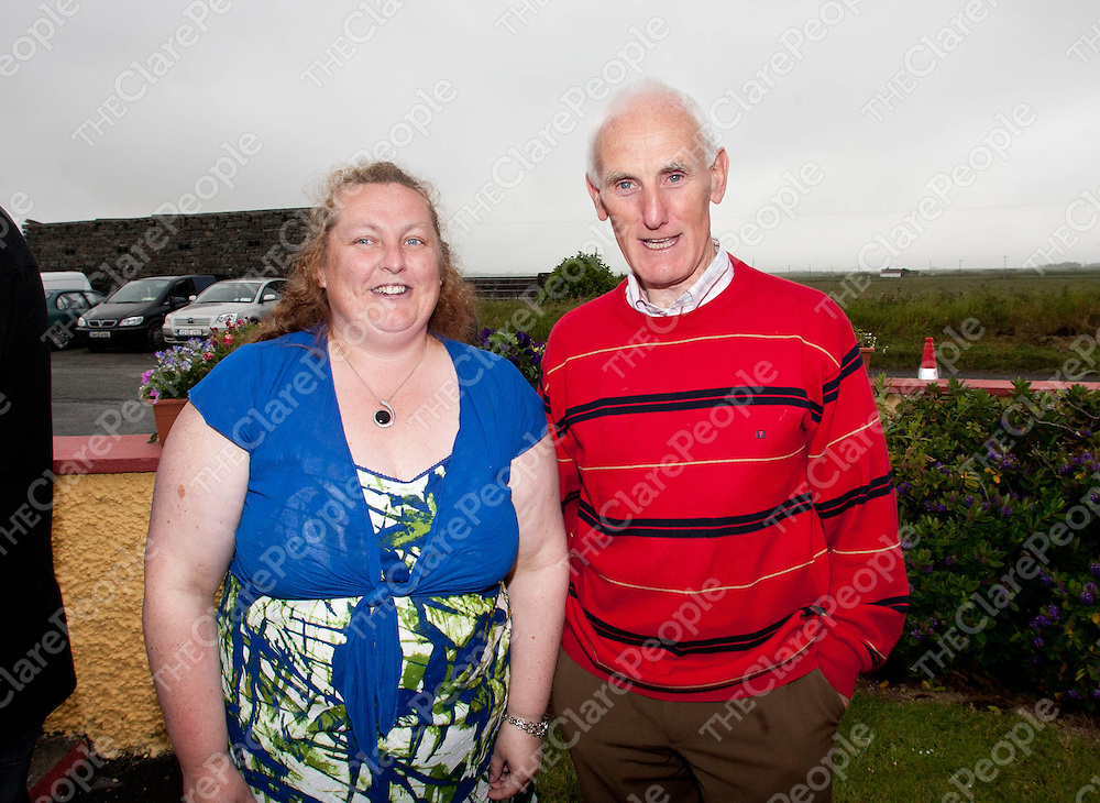 15.06.12 <br /> Kilbaha NS 50th Anniversary celebrations. Attending the event were, former teacher, Deridre Kenny and Patrick Naughton<br /> . Picture: Alan Place/Press 22.