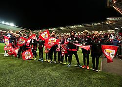 Bristol City flag bearers - Mandatory by-line: Robbie Stephenson/JMP - 23/01/2018 - FOOTBALL - Ashton Gate Stadium - Bristol, England - Bristol City v Manchester City - Carabao Cup Semi Final second leg