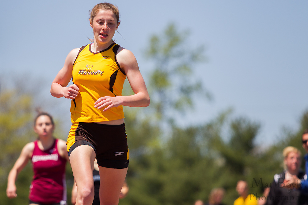 Rowan University's Jessalynn Wright competes in the women's 800 meter at the NJAC Track and Field Championships at Richard Wacker Stadium on the campus of  Rowan University  in Glassboro, NJ on Sunday May 5, 2013. (photo / Mat Boyle)