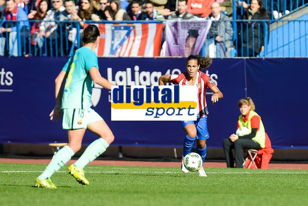 Atletico de Madrid Maria Bores during match of La Liga Femenina between Atletico de Madrid and FC Barcelona at Vicente Calderon Stadium in Madrid, Spain. December 11, 2016. (ALTERPHOTOS/BorjaB.Hojas)