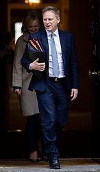 © Licensed to London News Pictures. 11/02/2020. London, UK. Secretary of State for Transport Grant Shapps leaves 10 Downing Street after a Cabinet meeting. The Prime Minister announced that the HS2 rail project will go ahead. Photo credit: Rob Pinney/LNP