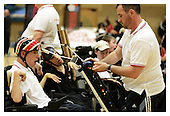 Boccia England International Competition. Wigan 26-6-11. Before 11.30