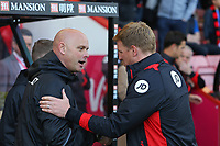Football - 2016 / 2017 Premier League - AFC Bournemouth vs. Middlesbrough<br /> <br /> Bournemouth's Manager Eddie Howe greets Middlesbrough Manager Steve Agnew before kick off at the Vitality Stadium (Dean Court) Bournemouth<br /> <br /> COLORSPORT/SHAUN BOGGUST
