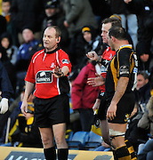 Wycombe, GREAT BRITAIN, Referee, Roy MAYBANK, call's for a line out, during the Guinness Premiership match,  London Wasps vs Sale Sharks at Adam's Park Stadium, Bucks, on Sun 23.11.2008. [Photo, Peter Spurrier/Intersport-images]