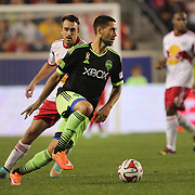 Clint Dempsey, Seattle Sounders, in action during the New York Red Bulls Vs Seattle Sounders, Major League Soccer regular season match at Red Bull Arena, Harrison, New Jersey. USA. 20th September 2014. Photo Tim Clayton