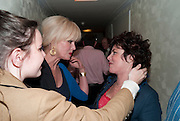 MADDY BYE; JOANNA LUMLEY;  RUBY WAX, Press night for Ruby Wax- Losing it. Duchess theatre. London. 1 September 2011. <br /> <br />  , -DO NOT ARCHIVE-© Copyright Photograph by Dafydd Jones. 248 Clapham Rd. London SW9 0PZ. Tel 0207 820 0771. www.dafjones.com.