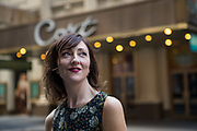 MANHATTAN, NY - APRIL 19, 2016: Carmen Cusack in front of Cort Theatre in Manhattan. CREDIT: Emon Hassan for The New York Times
