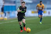 Forest Green Rovers George Williams(11) runs forward during the EFL Sky Bet League 2 match between Mansfield Town and Forest Green Rovers at the One Call Stadium, Mansfield, England on 23 February 2019.