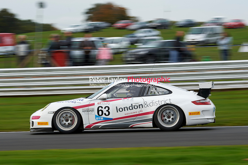 #63 Dominic MALONE Porsche 997 GT3 Cup during GT Cup - Race 2 as part of the MSVR Oulton Park 10th October 2015 at Oulton Park, Little Budworth, Cheshire, United Kingdom. October 10 2015. World Copyright Taylor/PSP. Copy of publication required for printed pictures.  Every used picture is fee-liable.