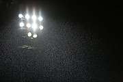 Rainy Spotland under floodlights during the Sky Bet League 1 match between Rochdale and Crewe Alexandra at Spotland, Rochdale, England on 16 February 2016. Photo by Daniel Youngs.