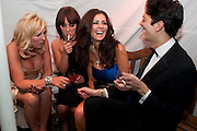 NICOLA MARTONE; CARRIE NEWMAN; DAWN WARD; JAMES ARKOULIS, Grey Goose Winter Ball to Benefit the Elton John AIDS Foundation. Battersea park. London. 29 October 2011. <br /> <br />  , -DO NOT ARCHIVE-© Copyright Photograph by Dafydd Jones. 248 Clapham Rd. London SW9 0PZ. Tel 0207 820 0771. www.dafjones.com.