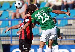 Nezbedin Selimi (11) of Primorje and Boris Mijatovic (23) of Rudar at 6th Round of PrvaLiga Telekom Slovenije between NK Primorje Ajdovscina vs NK Rudar Velenje, on August 24, 2008, in Town stadium in Ajdovscina. Primorje won the match 3:1. (Photo by Vid Ponikvar / Sportal Images)