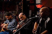 Norman Taylor with Steve Goldstien and Royce Martin during a joint appearance with Patty Blee at the Bus Stop Music Cafe in Pitman, NJ.