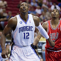 BASKETBALL - NBA - ORLANDO (USA) - 03/11/2008 -  .ORLANDO MAGIC V CHICAGO BULLS (96-93) - DWIGHT HOWARD / ORLANDO MAGIC, TYRUS THOMAS / CHICAGO BULLS