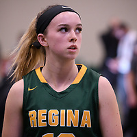 1st year guard Faith Reid (13) of the Regina Cougars during the Women's Basketball home game on November 11 at Centre for Kinesiology, Health and Sport. Credit: Arthur Ward/Arthur Images