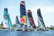 Day two of the Cardiff Extreme Sailing Series Regatta. 23/8/2014