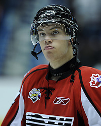 Taylor Hall of the Windsor Spitfires in Game 4 of the SUBWAY Super Series in Windsor, ON on November 23. Photo by Aaron Bell/OHL Images.