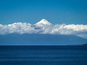 The Osorno Volcano towers above the landscape of all the nearby towns near Puerto Vara, not too far from the Puerto Montt, where our cruise ship, the Crown Princess anchored.<br />