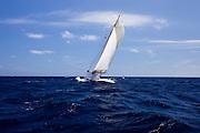 Juno sailing in the 2010 Antigua Classic Yacht Regatta, Windward Race, day 4.