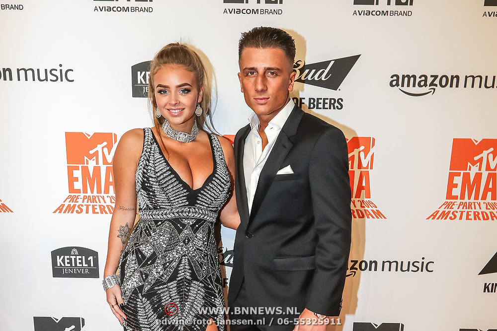 NLD/Amsterdam/20191028 - MTV Pre Party in Amsterdam,  Madam Julie and Harrie Snijders
