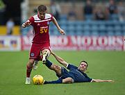 10th August 2019; Dens Park, Dundee, Scotland; SPFL Championship football, Dundee FC versus Ayr; Luke McCowan of Ayr United skips past Cammy Kerr of Dundee