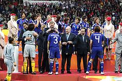 17.07.2011, Commerzbankarena, Frankfurt, GER, FIFA Women Worldcup 2011, Finale,  Japan (JPN) vs. USA (USA), im Bild:  ..Freude bei der Uebergabe der Medallie.. // during the FIFA Women Worldcup 2011, final, Japan vs USA on 2011/07/11, FIFA Frauen-WM-Stadion Frankfurt, Frankfurt, Germany.   EXPA Pictures © 2011, PhotoCredit: EXPA/ nph/  Mueller       ****** out of GER / CRO  / BEL ******
