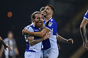 Bristol Rovers midfielder Stuart Sinclair (24) celebrates after scoring a goal to make it 0-2 during the The FA Cup match between Notts County and Bristol Rovers at Meadow Lane, Nottingham, England on 3 November 2017. Photo by Jon Hobley.