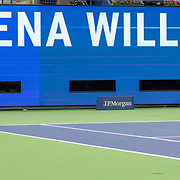 2019 US Open Tennis Tournament- Day Eleven.  Serena Williams of the United States in action against Elina Svitolina of the Ukraine in the Women's Singles Semi-Finals match on Arthur Ashe Stadium during the 2019 US Open Tennis Tournament at the USTA Billie Jean King National Tennis Center on September 5th, 2019 in Flushing, Queens, New York City.  (Photo by Tim Clayton/Corbis via Getty Images)