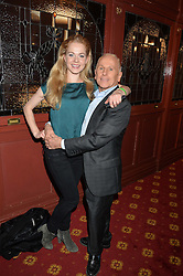 Actress AMY LENNOX who plays Cinderella and WAYNE SLEEP at the opening night of Cinderella at The New Wimbledon Theatre, 93 The Broadway, London SW19 1QG on 9th December 2014.