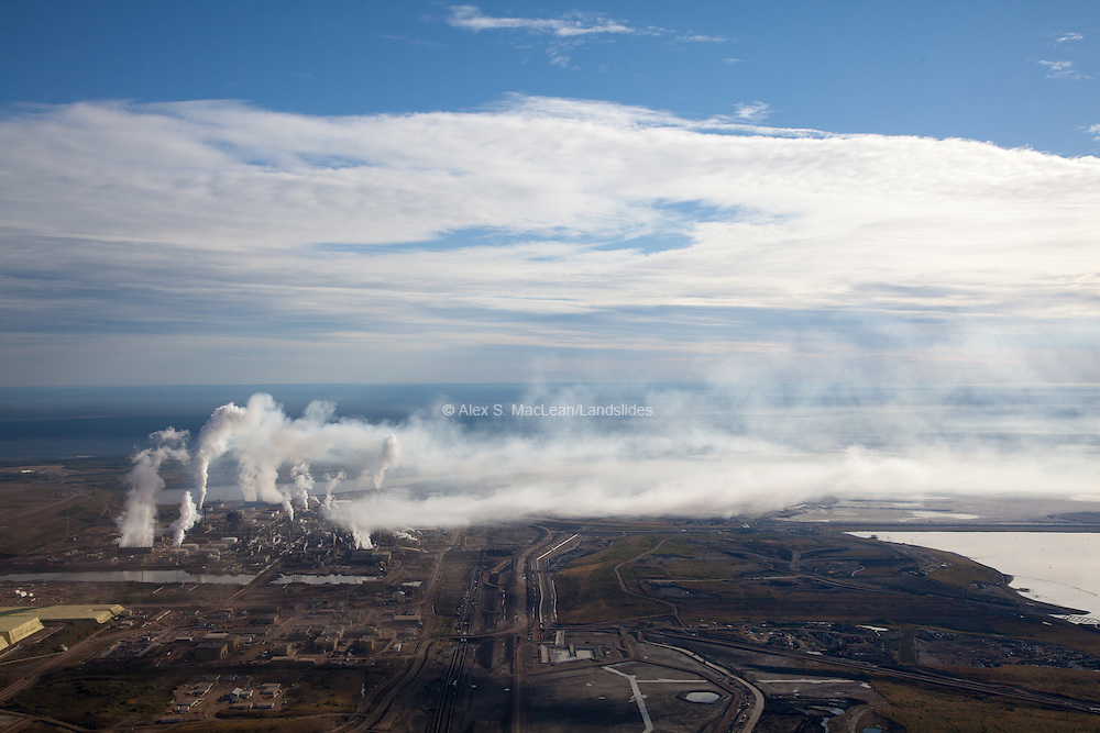 Air pollution is a huge source of regional contamination in northern Alberta. In 2012, Syncrude's Alberta mines had the most CO2 emissions of any other large facility in Canada. Mining and refining bitumen produces more than twice as much nitrogen oxide and sulphur dioxides as producing a barrel of conventional oil.