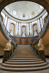 Grand staircase inside famous Bode Museum on Museumsinsel Museum Island in central Berlin Germany 2008