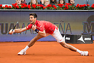 Novak Djokovic during the final of the Madrid Open at Manzanares Park Tennis Centre, Madrid<br /> Picture by EXPA Pictures/Focus Images Ltd 07814482222<br /> 08/05/2016<br /> ***UK &amp; IRELAND ONLY***<br /> EXPA-ESP-160509-0093.jpg