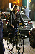 New York - Charlize Theron On Tully Film Set - 08 Nov 2016