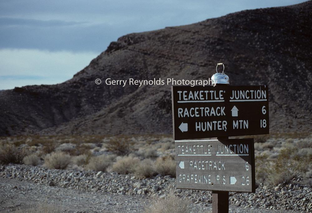 Road Sign, Teakettle Junction, Death Valley National Park, California