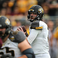 ORLANDO, FL - JANUARY 01:  Maty Mauk #7 of the Missouri Tigers drops back to pass during the Buffalo Wild Wings Citrus Bowl against the Minnesota Golden Gophers at the Florida Citrus Bowl on January 1, 2015 in Orlando, Florida. (Photo by Alex Menendez/Getty Images) *** Local Caption *** Maty Mauk