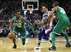 Boston Celtics' Terry Rozier III during the NBA London Game 2018 at the O2 Arena, London. PRESS ASSOCIATION Photo. Picture date: Thursday January 11, 2018. See PA story BASKETBALL London. Photo credit should read: Simon Cooper/PA Wire. RESTRICTIONS: Editorial use only, No commercial use without prior permission