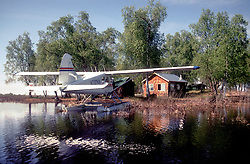 Anchorage, AK:  Fly-in cabin on a lake northwest of the city. Commuting is often by airplane in the 49th state.