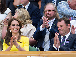 LONDON, ENGLAND - Thursday, July 7, 2016:  The Dutchess of Cambridge (Kate Middleton) and Barry Gibb during the Ladies' Singles - Semi-finals match on day eleven of the Wimbledon Lawn Tennis Championships at the All England Lawn Tennis and Croquet Club. (Pic by Kirsten Holst/Propaganda)