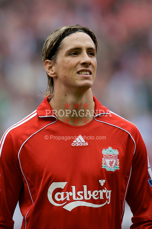 Liverpool, England - Sunday, October 7, 2007: Liverpool's Fernando Torres before the Premiership match against Tottenham Hotspur at Anfield. (Photo by David Rawcliffe/Propaganda)