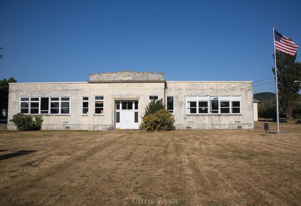 Old public school in Chinook, Washington