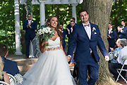 bride and groom outdoor ceremony by Tallmadge wedding photographer, Akron wedding photographer Mara Robinson Photography