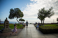 Lima, Peru- March 22, 2015: Miraflores is a popular Lima neighborhood that stretches along the city's coastal bluffs. Miraflores offers miles of manicured parks along with some of the best restaurants and shopping options. CREDIT: Chris Carmichael for The New York Times